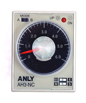 1pc Industrial Timer AH3-NC 6S / 60S / 6M / 60M AC220V ANLY Taiwan