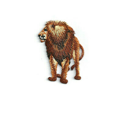 Lion - Wild Animal - African - Safari - Embroidered Iron On Patch