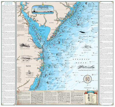 graphic about Printable Map of Florida Keys titled FLORIDA KEYS SHIPWRECK Map - Nautical Chart Artwork Poster Print