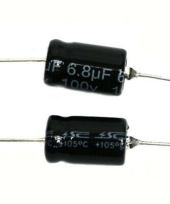 105℃ RoHS NP 10uF 100V φ6x16mm SC 20pc Electrolytic Capacitor NPT Axial 2000hr