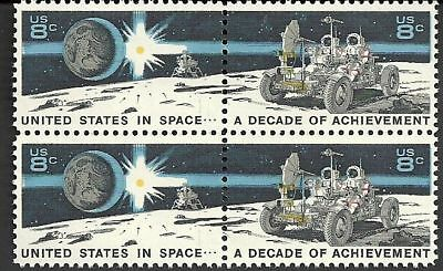 USA - MNH Block of 4  Space Stamps - Lunar Rover