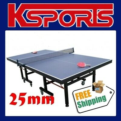 Table Tennis Ping Pong Table Pro Size 25Mm Top - Ittf Approved Manufacturer