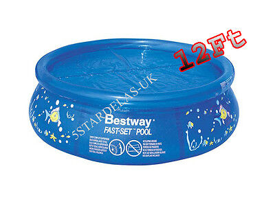 Bestway 12Ft 12' Fast Set Swimming Pool Cover 366Cm