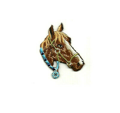 Horse Show Embroidered Iron On Patch Western Horse Head Rodeo L