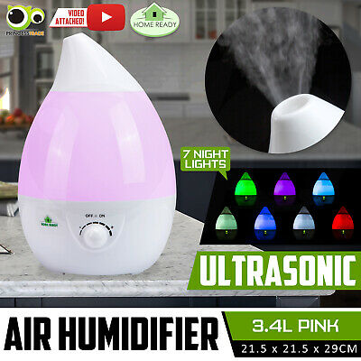 3.4L Air Humidifier Ultrasonic Cool Mist Steam Nebuliser Purifier Aroma Beauty