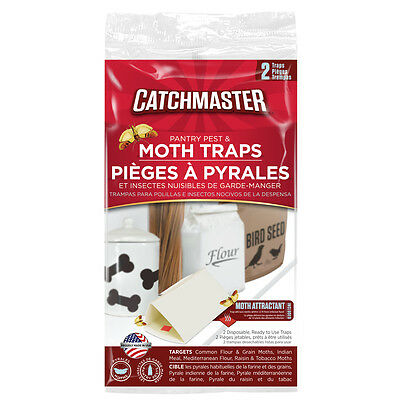 2 Packs of 2 Traps Catchmaster Pantry Pest Moth Control Indian Meal, Tobacco