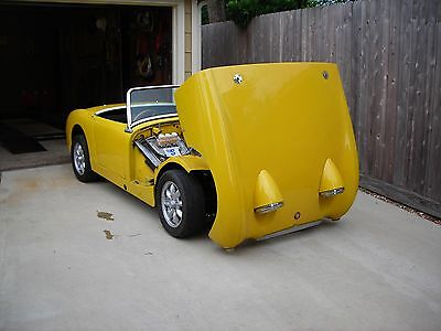 New 1958-61 Austin Healey Bugeye Sprite Front Tilting Hood Kit, Bonnet, Upgrade