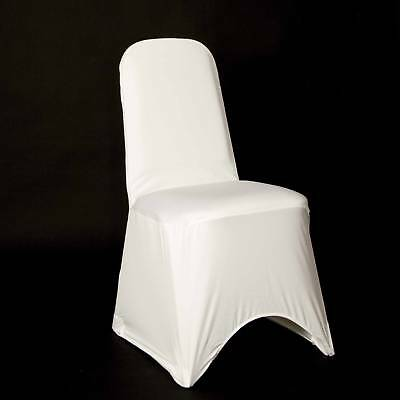 50 White Premium Spandex Chair Covers Brand New Uk Seller