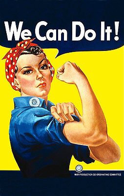 We Can Do It  - 1942 WWII Poster Rosie The Riveter