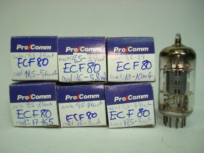 Ecf80 - 6Bl8 Tube. Mixed Brand Used Tube. Rcu1