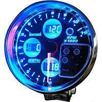 4 In 1 Tachometer Gauge 5 Inch Oil Water Volts New