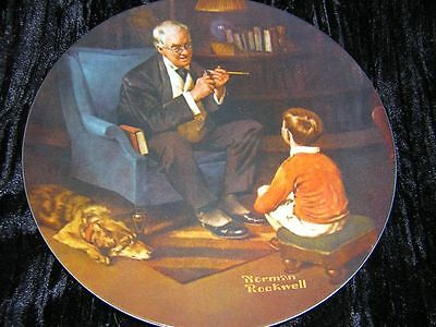 Knowles Norman Rockwell Collector Plate The Tycoon