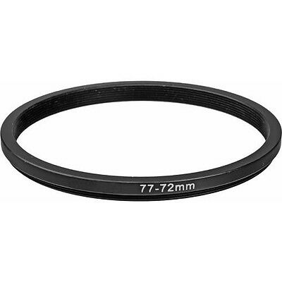 Step-down adapter ring 77-72 77mm-72mm Metal Anodized for Camera, form US Seller