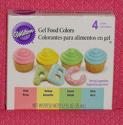 Pastel Edible Food Coloring,Gel Icing Color,4 Pack,Wilton,Multi-Color,601-5582