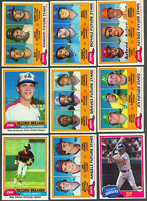 1981 Topps Lot of 27 different Cards