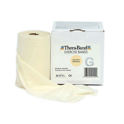 THERA-BAND ® 1,5 m beige Gymnastikband Original Theraband von der Rolle