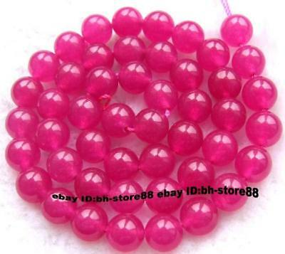 8mm Pink Jade Round gemstone Beads 15''