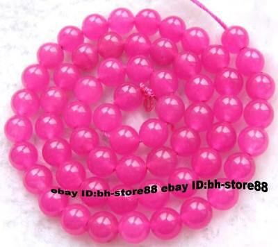 6mm Pink Jade Round gemstone Beads 15''