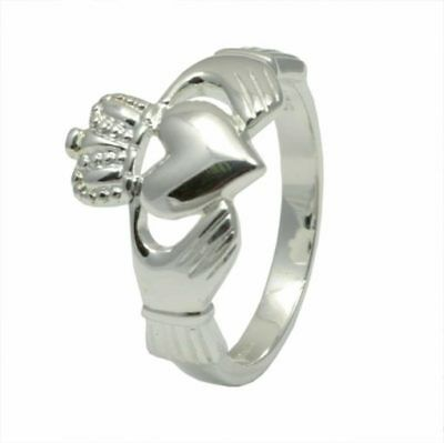 Mens Irish Made Sterling Silver CLADDAGH Ring Size 13