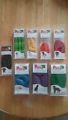 PawZ Rubber Dog Boots Reusable Disposable 100% Waterproof 12 Pk Tiny-X-Large