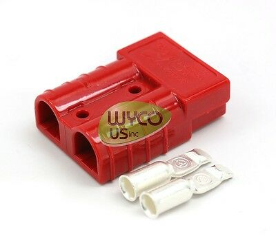 Anderson Quick Connector Sb50, #6Awg, Small Red, Sb50A 600V, Warn Winch