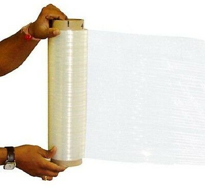 "18"" x 1500' x 80 EQ 13 Micron Hand Stretch Wrap Film w/ Free Shipping 4 Rolls"