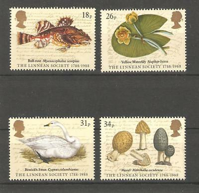 Linnean Society. - 1988 Unmounted  Mint Set