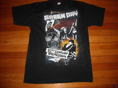 New 2009 Green Day Adult Tour T-Shirt Black Size 2Xl