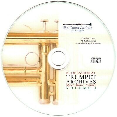 Professional TRUMPET Sheet Music Archive - Volume 1 -  PDF CD
