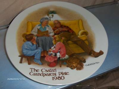 """The Bedtime Story Collector Plate Csatari Knowles """"80"""