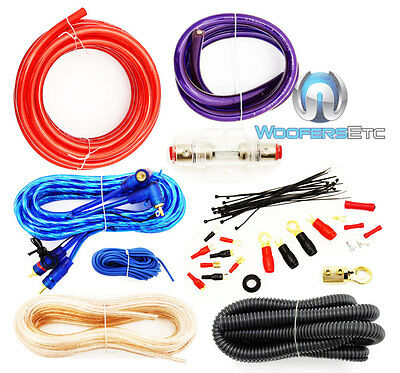 8 GAUGE PRO AMP WIRING KIT AMPLIFIER INSTALL POWER GROUND RCA COMPLETE WIRE SET