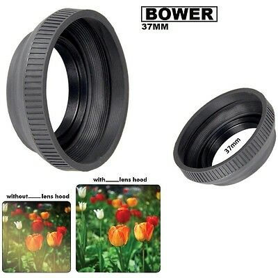 Bower 37mm  Collapsible Rubber Lens Hood For Photo and Video Camera