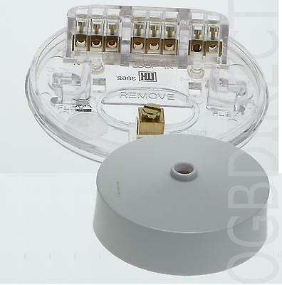 Ceiling Rose Clear Base 3 Terminal Earth Lighting Lamp