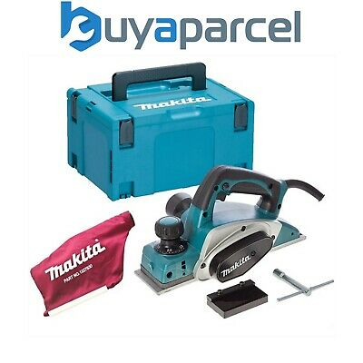 "Makita KP0800 3"" 82mm Heavy Duty Planer 2mm 620w + Dust Bag + Makpac Case 240v"