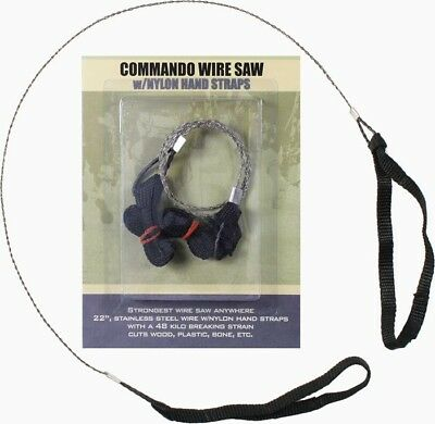 Stainless Steel Commando Wire Saw W/ Nylon Hand Straps