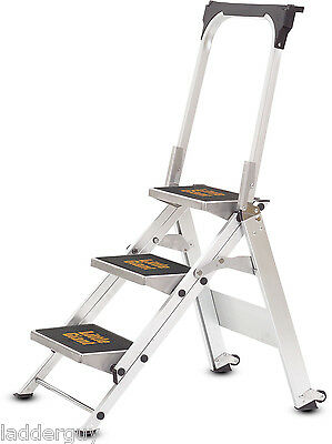 3 step Little Giant Safety Step Ladder jumbo 10310B