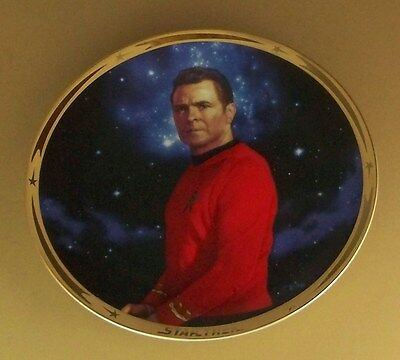STAR TREK 25th Anniversary Commemorative Plate SCOTTY Paramount Pictures TV