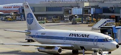 B-737 Pan Am Airlines B737Airplane Wood Model Free Shipping New