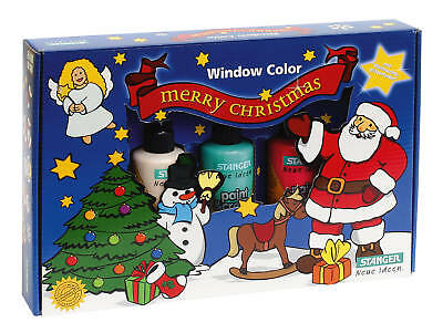 Window Color Window-Color Set Merry Christmas  inkl. 5   #10704