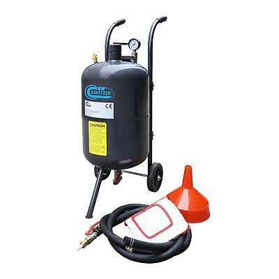 Switzer Portable Sand Blaster - 38L 10 Gallon Mobile Sand Bead Blasting Gun Incl