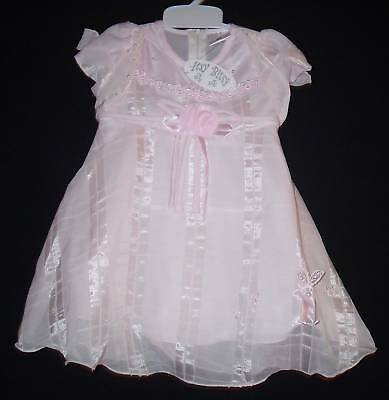 Baby Girls Dress 6-12 12-18 18-23 Mths Pink Bnwt