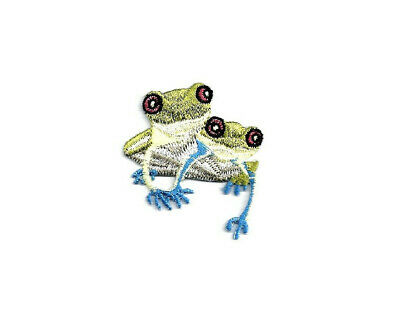 """Frog - Frogs - Amphibian - Embroidered Iron On Patch - 1 3/4"""""""