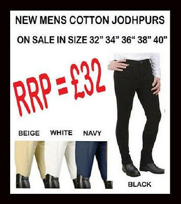 MENS NEW HORSE RIDING JODHPURS  all sizes  / colours mans Jodphurs on sale