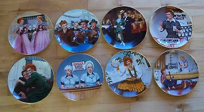 Set of 8 THE OFFICIAL I LOVE LUCY PLATE COLLECTION +COA + Free Book TV Show