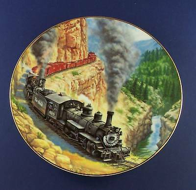 ABOVE THE CANYON Golden American Railroads Plate TRAIN