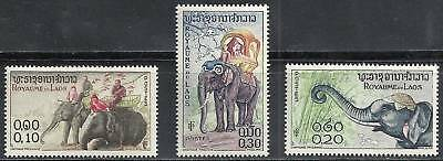 Laos - MNH Elephant Stamps from 1958