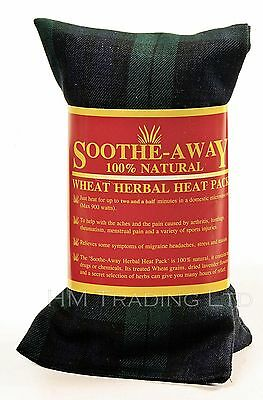 Soothe Away Natural Wheat & Lavender Herbal Heat Pack Bag Pain Relief Microwave