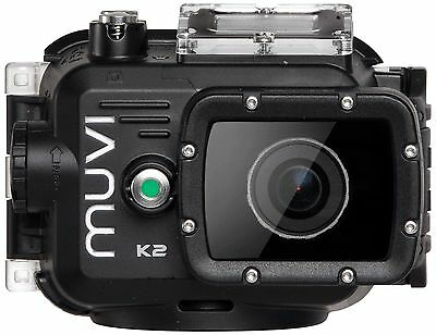 Veho Muvi Wide Angle Waterproof 1080p HD WiFi Helmet Sports Action Camera