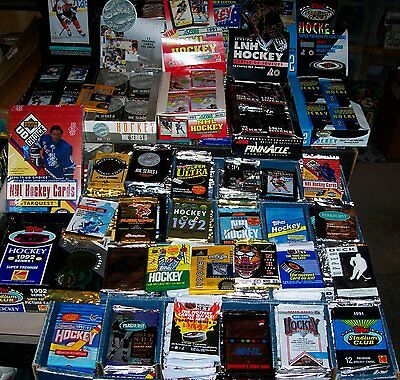 700 HOCKEY CARDS LOT IN FACTORY SEALED PACKS 1990'S
