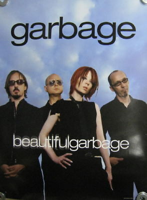 Garbage Beautiful Garbage double sided promo poster NEW Shirley Manson